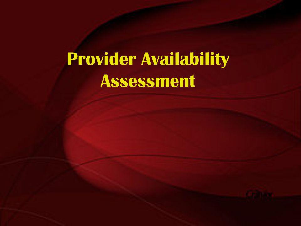 Provider Availability Assessment