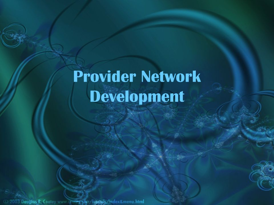 Provider Network Development