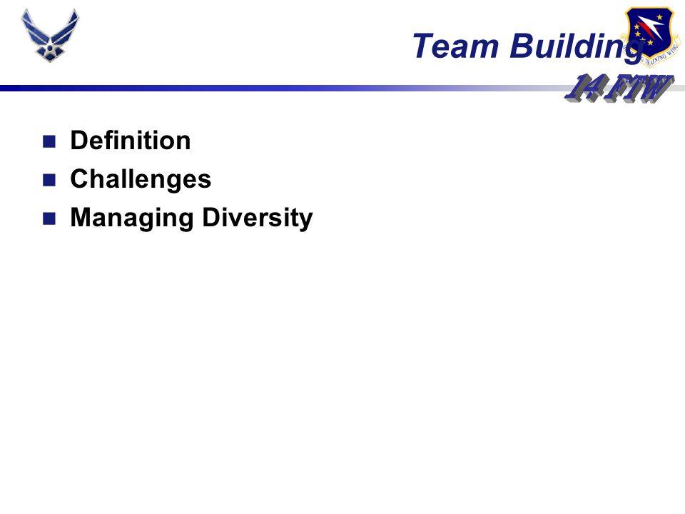 Definition Challenges Managing Diversity Team Building