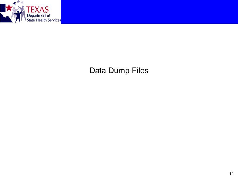 Data Dump Files 14