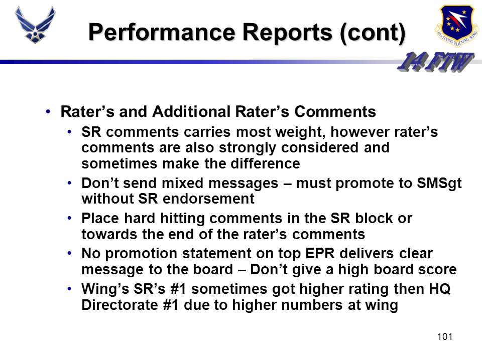 100 Performance Reports Markdowns noted especially in Leadership and Management Less than 5 rating negatively viewed, but could be overcome by consist