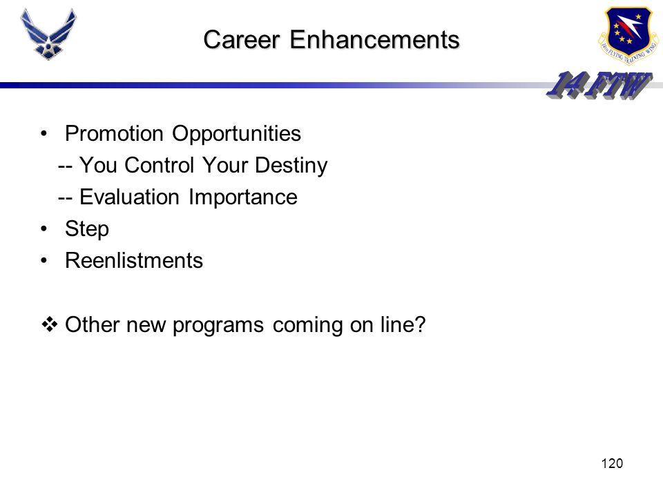 119 Personnel Programs (cont) Careers Retraining Bop Entitlement Opportunity For Bonus Current Afsc Minimal Impact