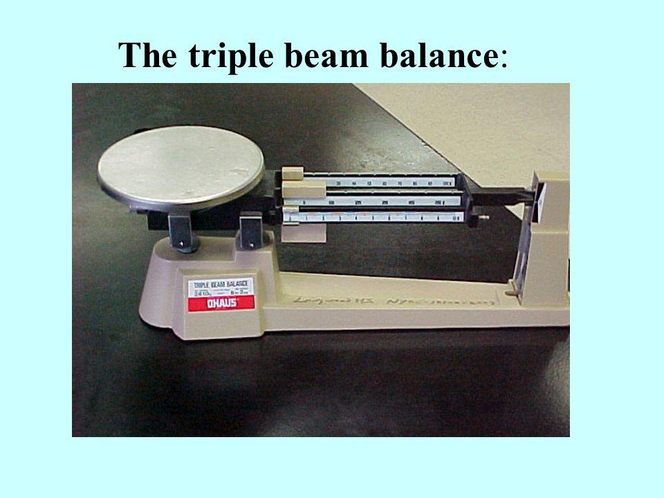The triple beam balance: