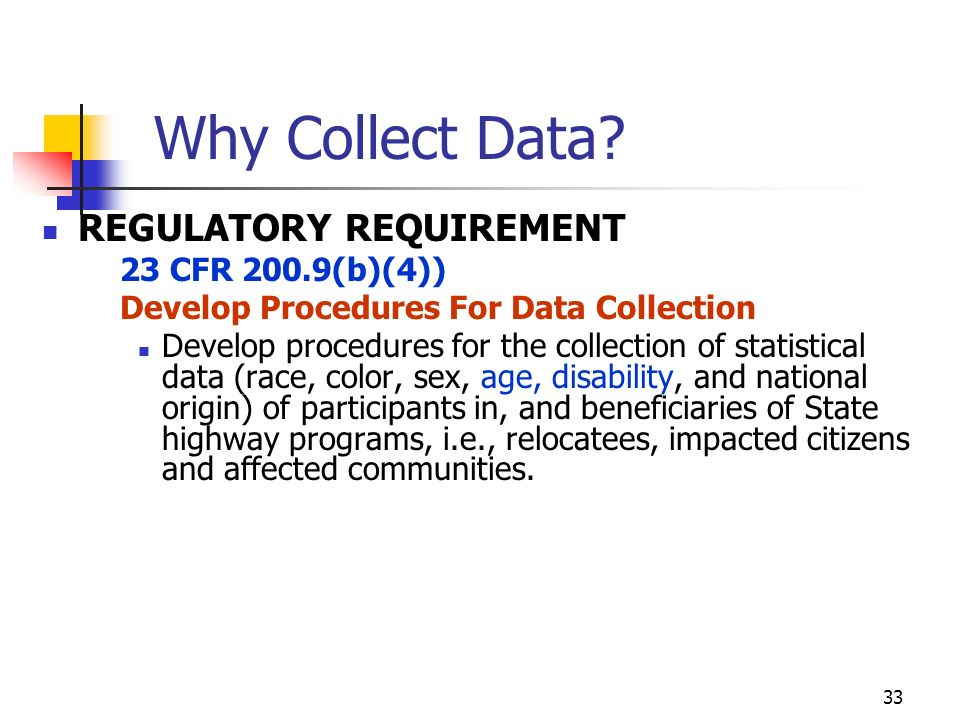 33 Why Collect Data.