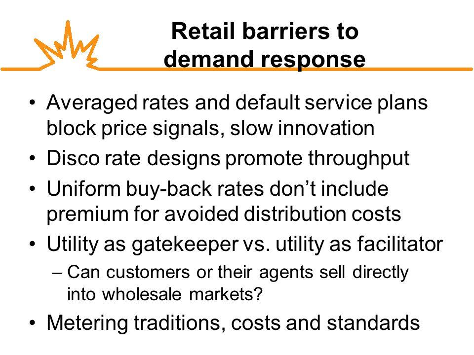 Demand Response (D) Long-term Efficiency