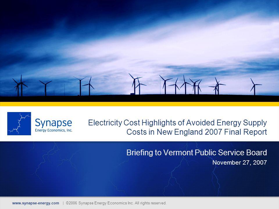 www.synapse-energy.com | ©2006 Synapse Energy Economics Inc.
