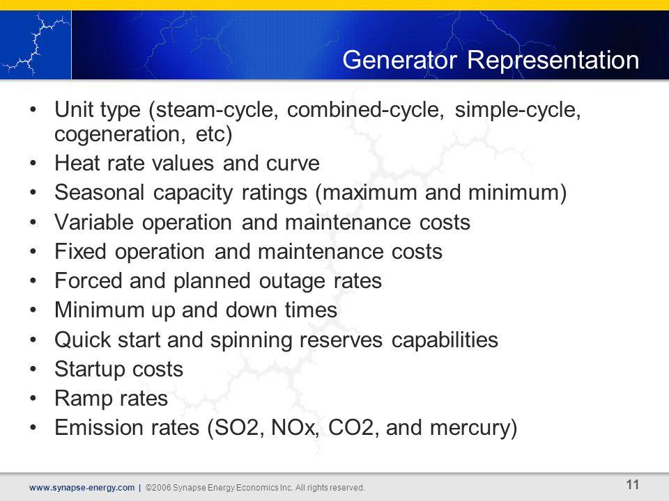 11 www.synapse-energy.com | ©2006 Synapse Energy Economics Inc.
