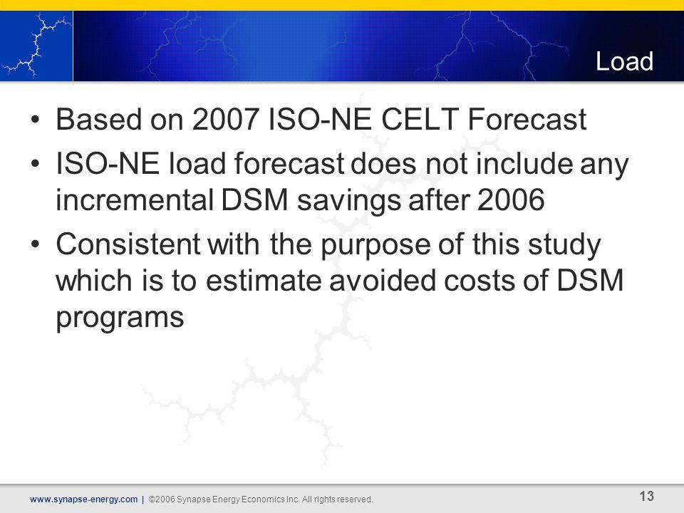 13 www.synapse-energy.com | ©2006 Synapse Energy Economics Inc.