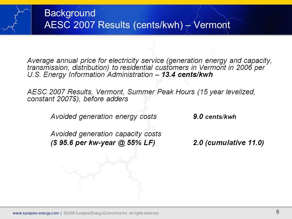 6 www.synapse-energy.com | ©2006 Synapse Energy Economics Inc.