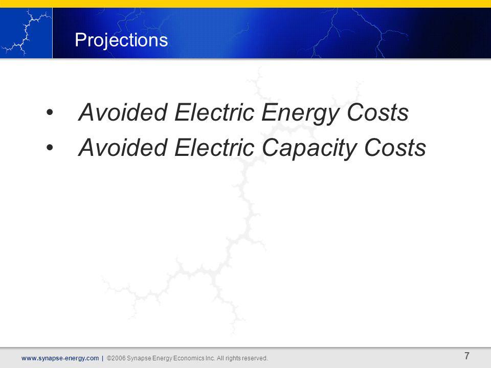 7 www.synapse-energy.com | ©2006 Synapse Energy Economics Inc.