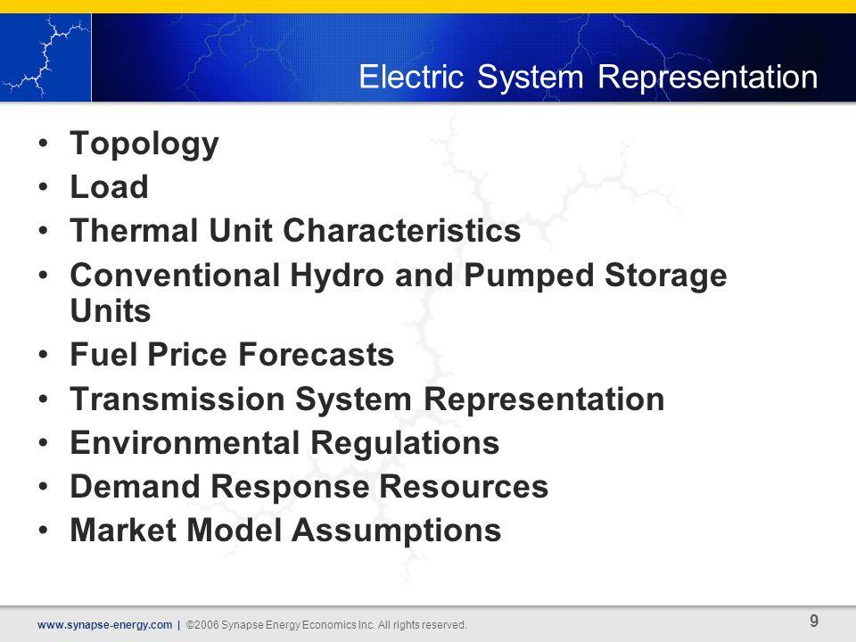 9 www.synapse-energy.com | ©2006 Synapse Energy Economics Inc.