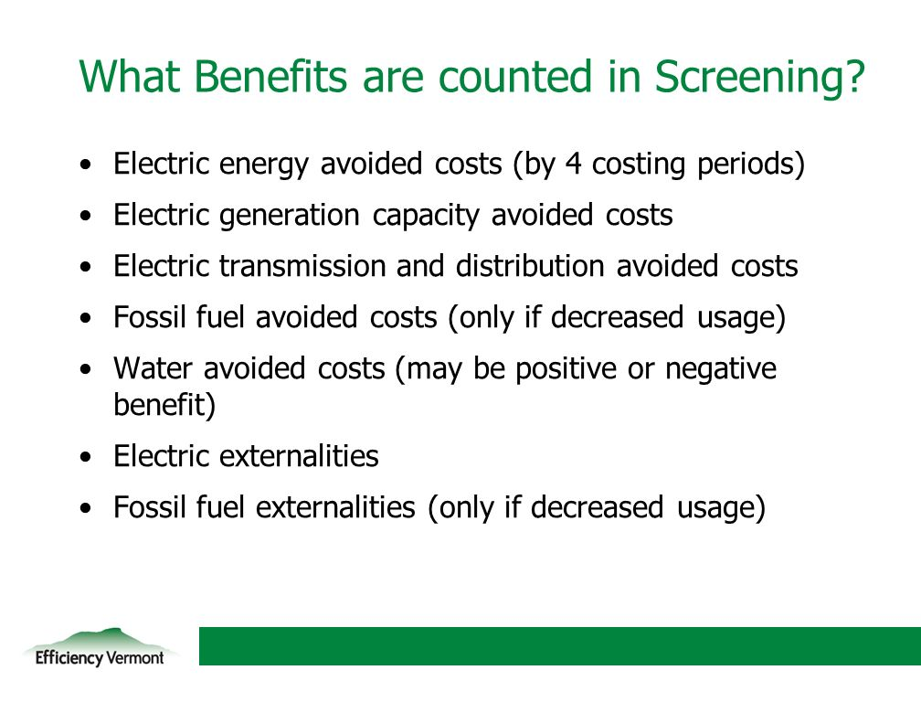 9 Electric energy avoided costs (by 4 costing periods) Electric generation capacity avoided costs Electric transmission and distribution avoided costs