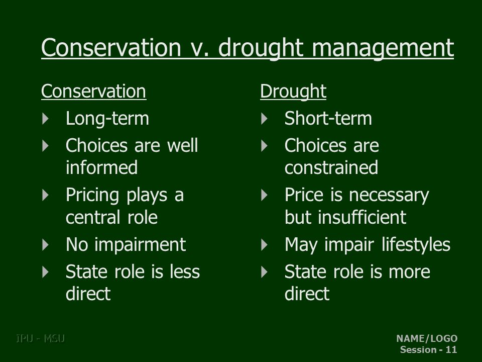 NAME/LOGO Session - 11 IPU - MSU Conservation v.