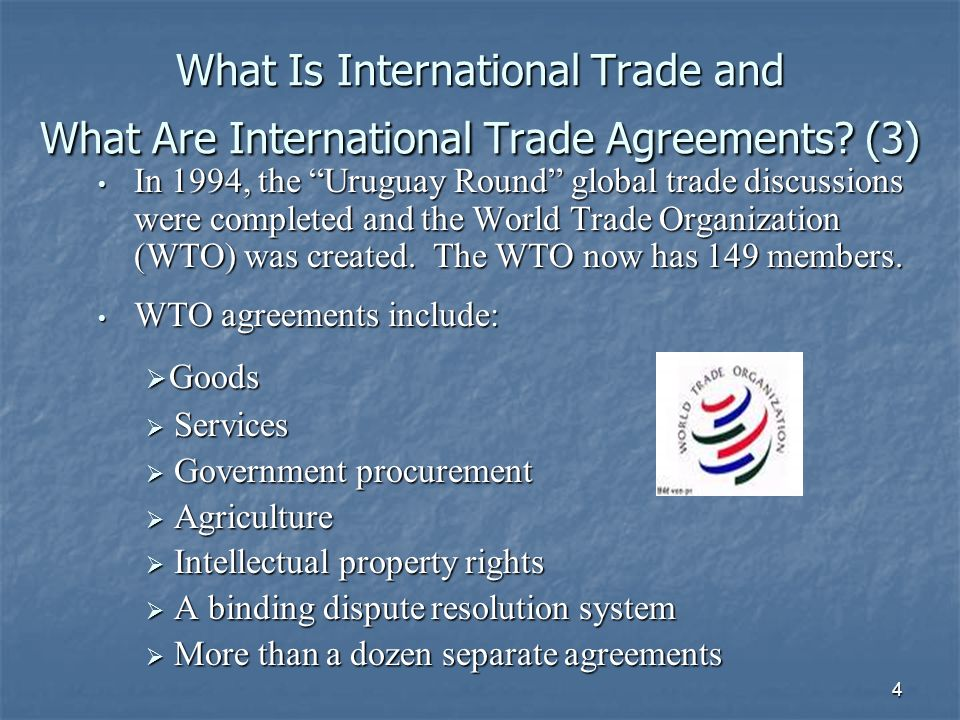 5 The International Trading System in the U.S.