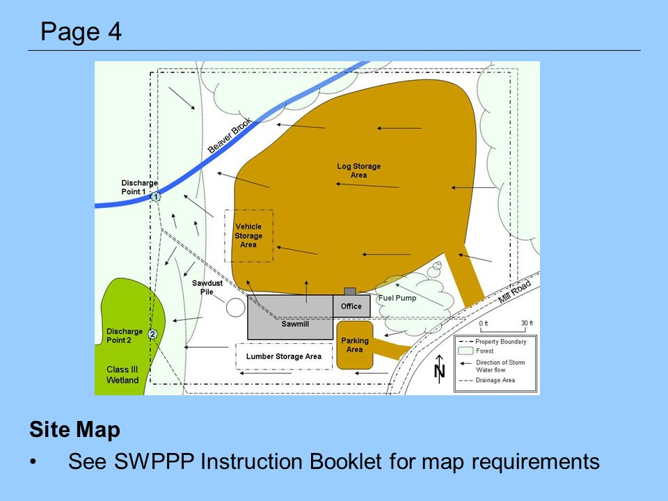 Site Map See SWPPP Instruction Booklet for map requirements Page 4