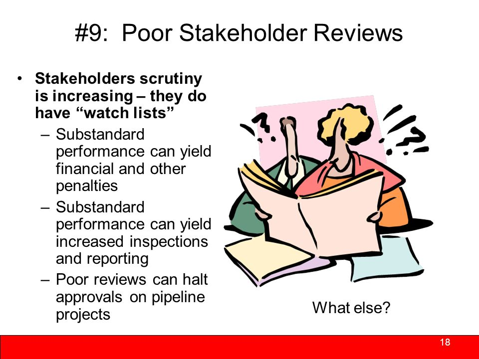 #8: Negative Trends in Operating Advances to Properties Solutions –Make paying back advances a priority – plan for them –Determine whether or not any reserves are available –If self-manage renegotiate management agreements so payment of management fees is closer to top rather than bottom of order of monthly payments –Make repayment part of refinancing 17