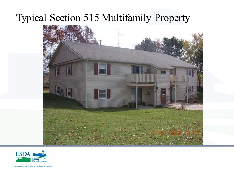 Typical Section 515 Multifamily Property