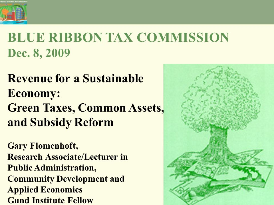 BLUE RIBBON TAX COMMISSION Dec.