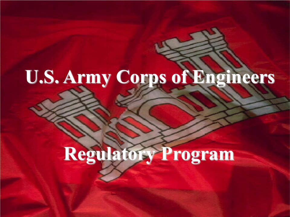 U.S. Army Corps of Engineers Regulatory Program Regulatory Program