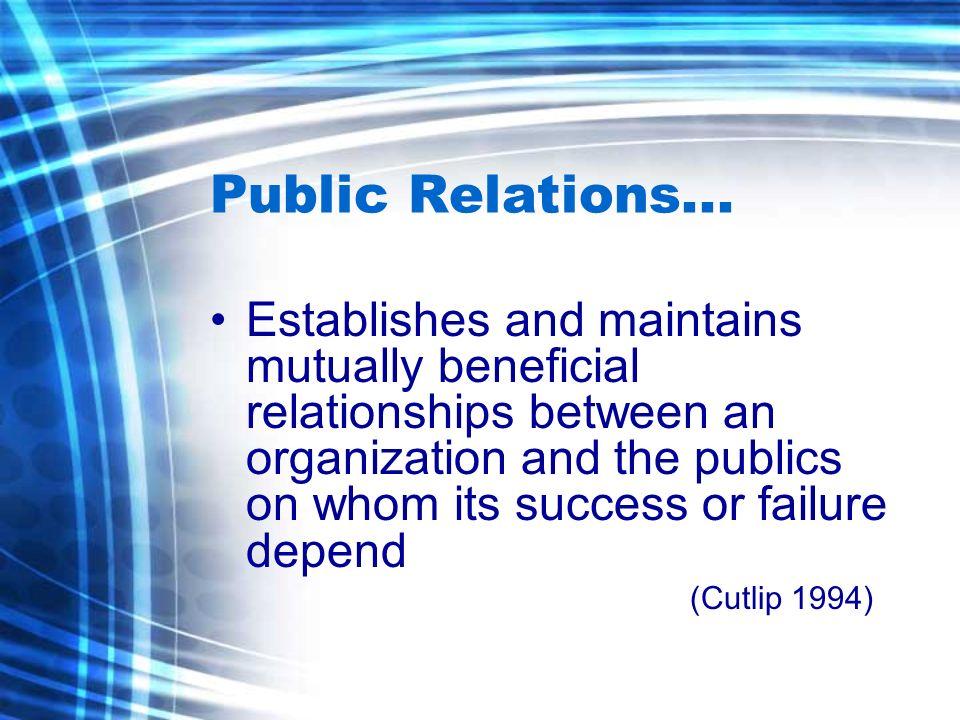 Public Relations...