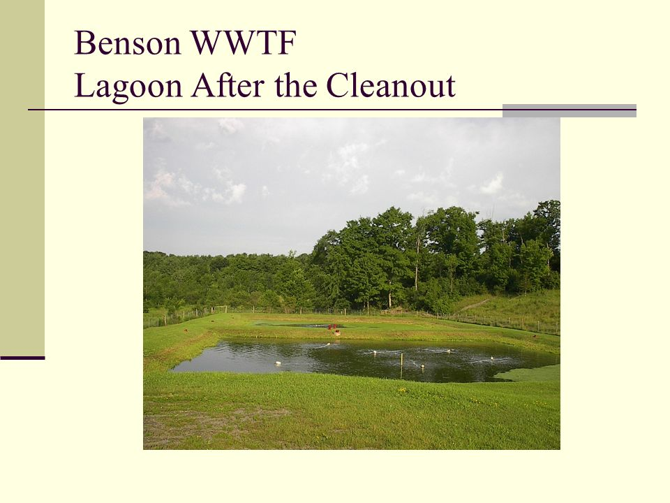 Benson WWTF Lagoon After the Cleanout