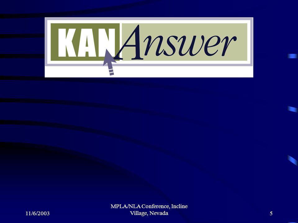 11/6/2003 MPLA/NLA Conference, Incline Village, Nevada5