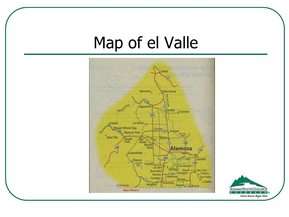 Map of el Valle