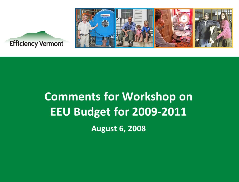 1 Comments for Workshop on EEU Budget for August 6, 2008