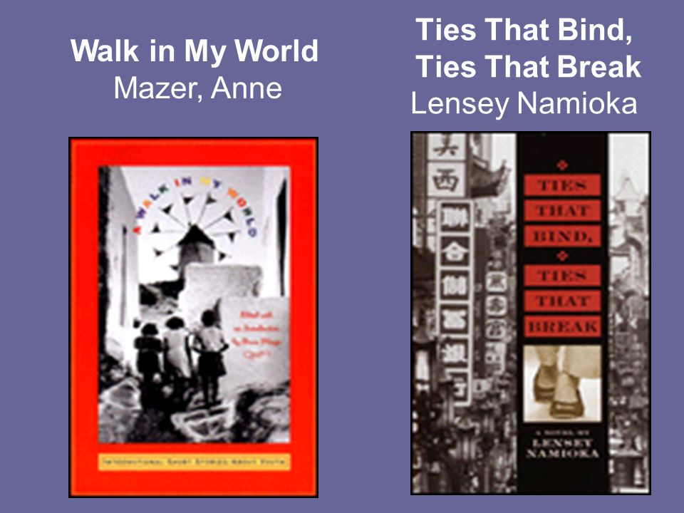 Ties That Bind, Ties That Break Lensey Namioka Walk in My World Mazer, Anne