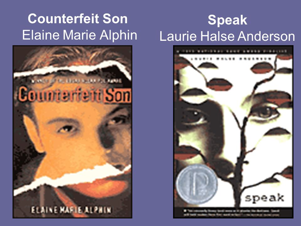 Counterfeit Son Elaine Marie Alphin Speak Laurie Halse Anderson