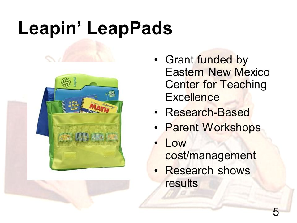4 Involving Families Leapin LeapPads.