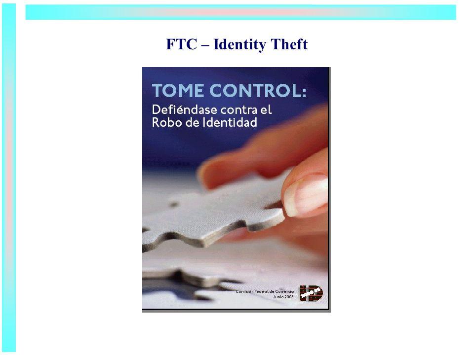 FTC – Identity Theft