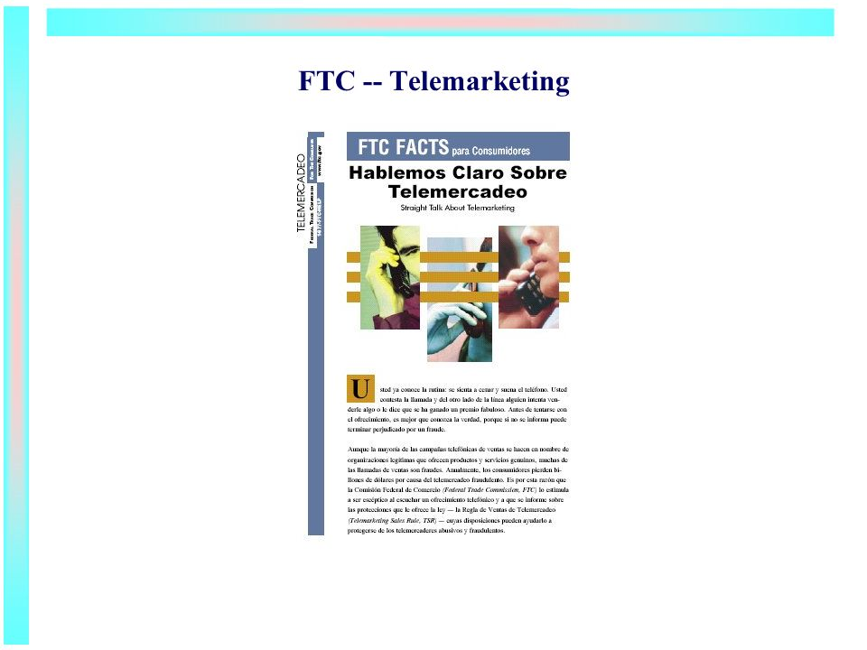 FTC -- Telemarketing