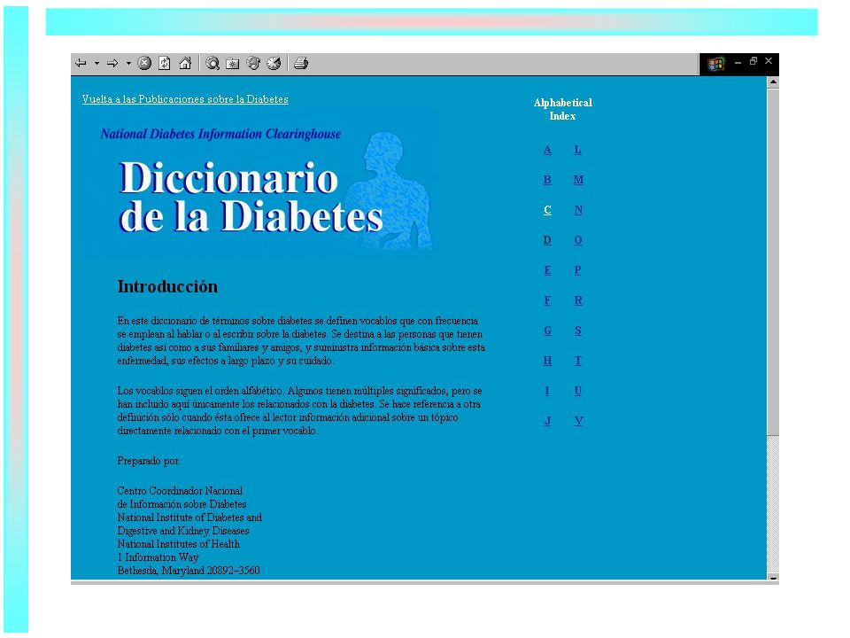 NIDDK Diabetes Dictionary