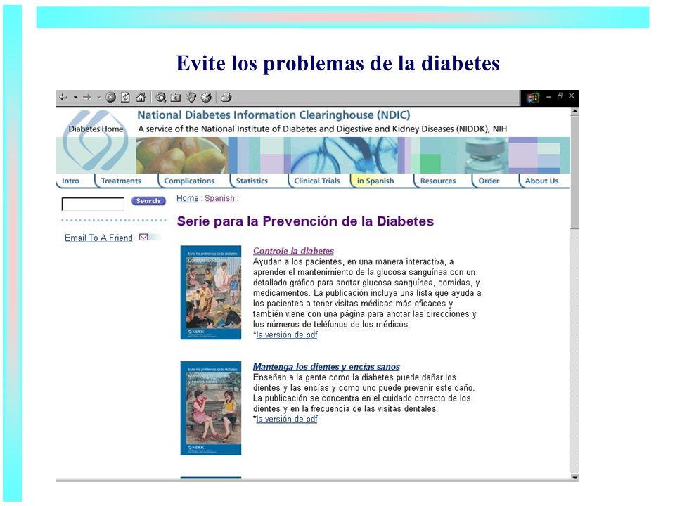 Evite los problemas de la diabetes
