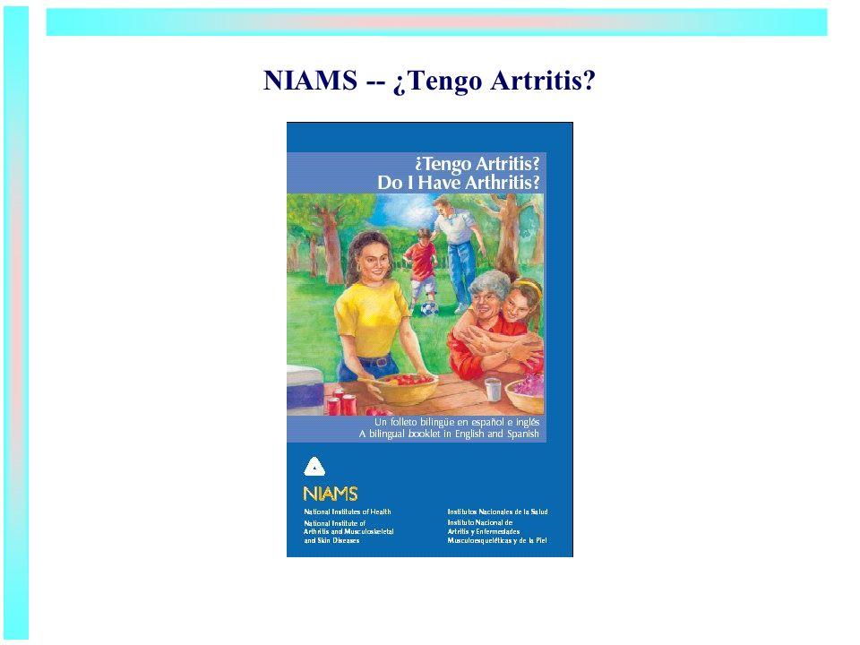 NIAMS -- ¿Tengo Artritis?
