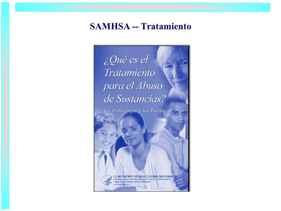 SAMHSA -- Tratamiento