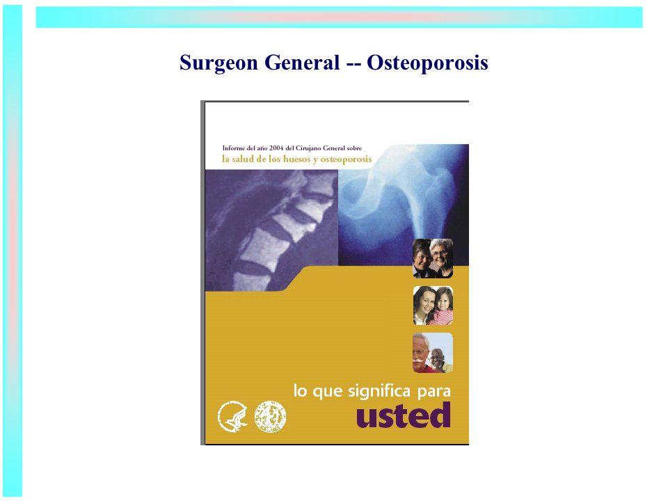 Surgeon General -- Osteoporosis
