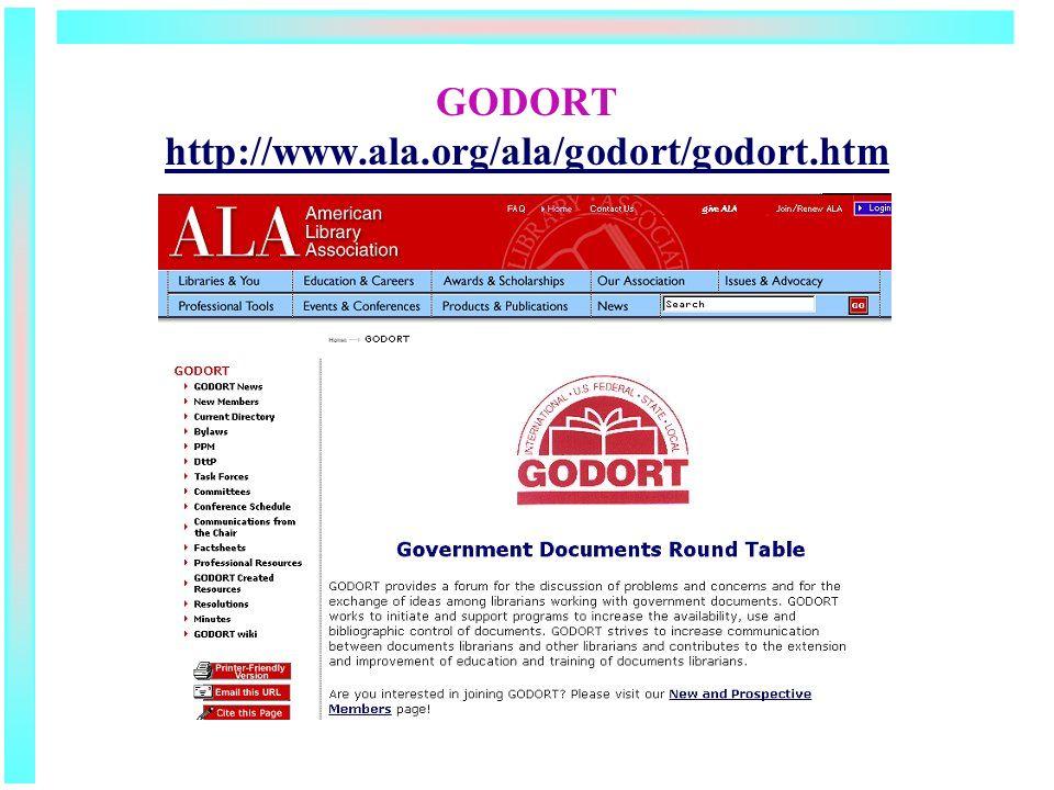 GODORT http://www.ala.org/ala/godort/godort.htm http://www.ala.org/ala/godort/godort.htm