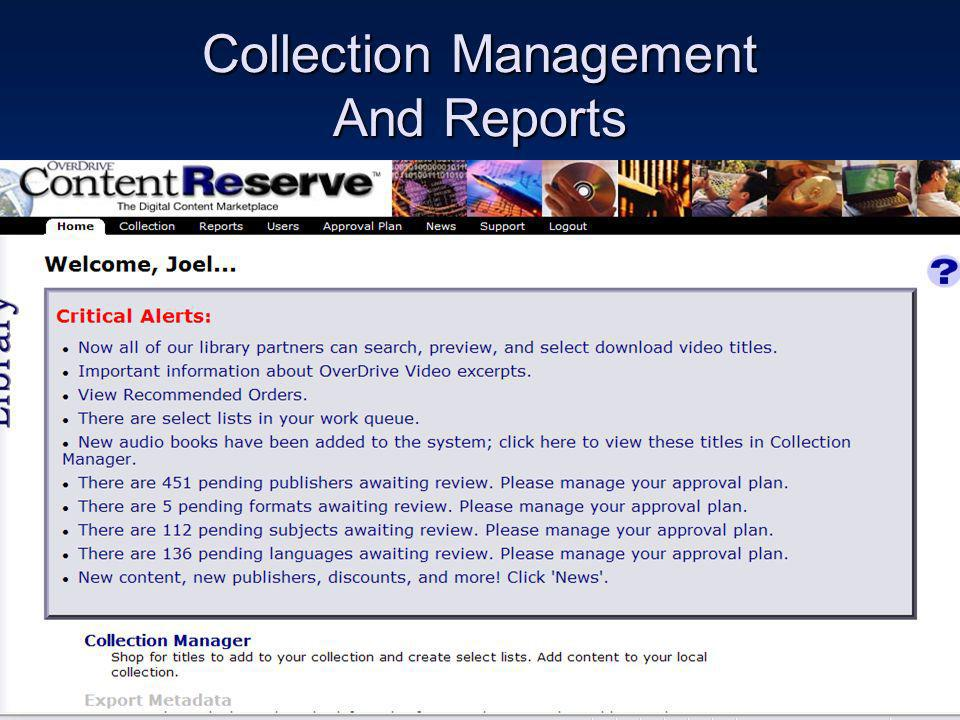 Collection Management And Reports