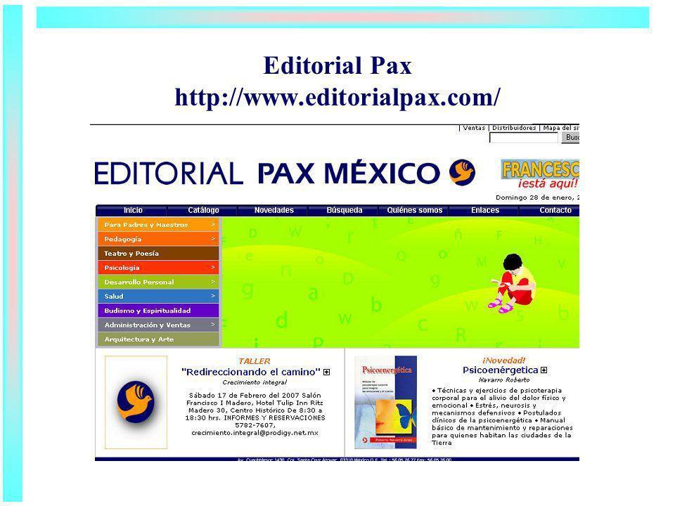 Editorial Pax http://www.editorialpax.com/