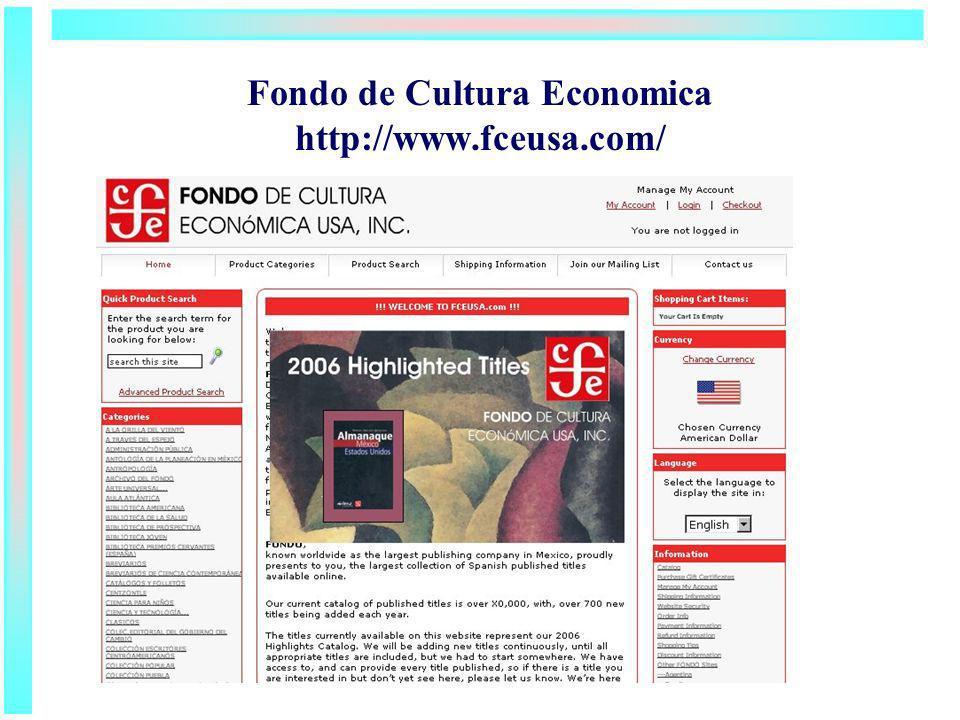 Fondo de Cultura Economica http://www.fceusa.com/