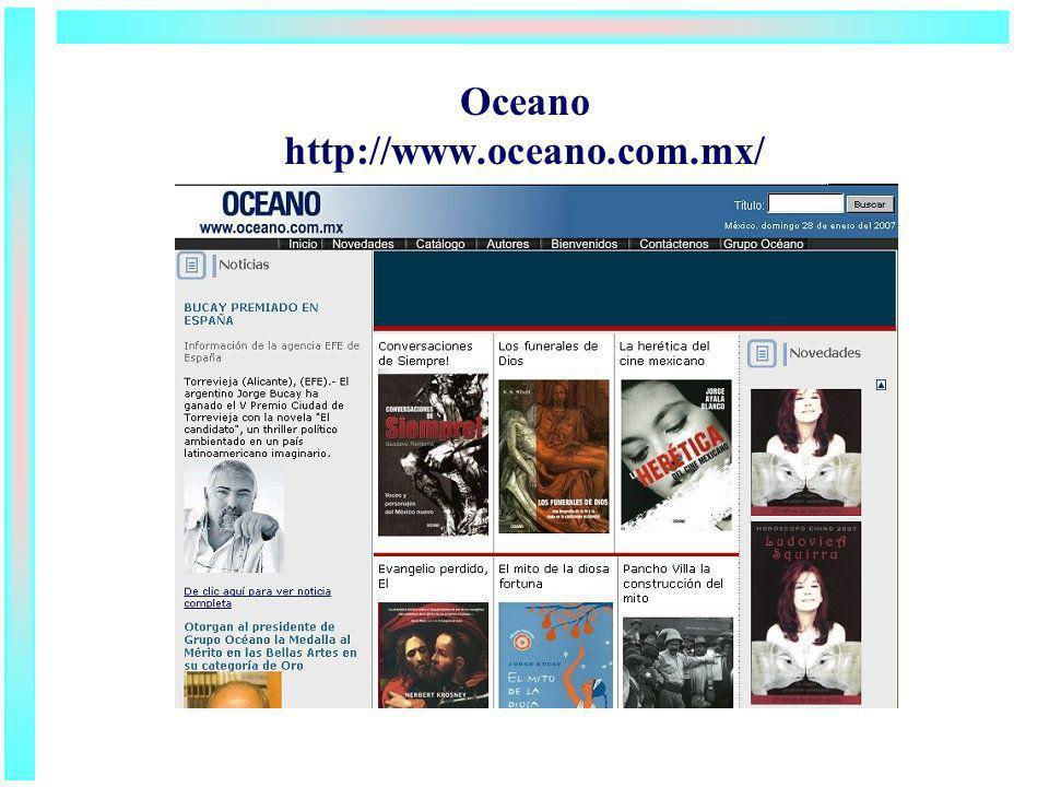 Oceano http://www.oceano.com.mx/