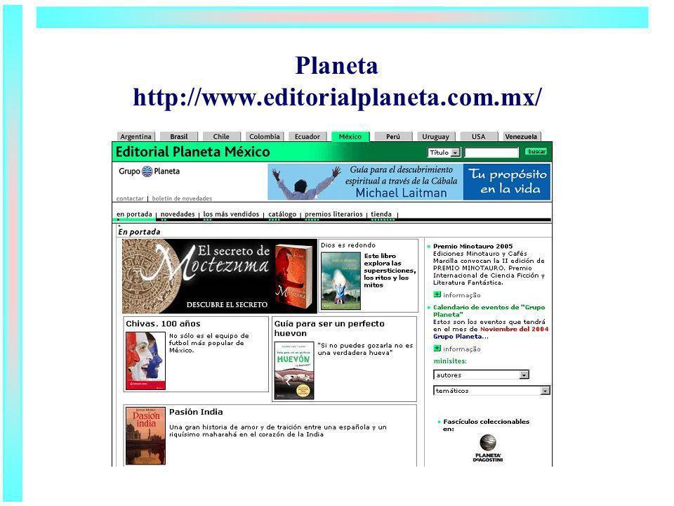 Planeta http://www.editorialplaneta.com.mx/