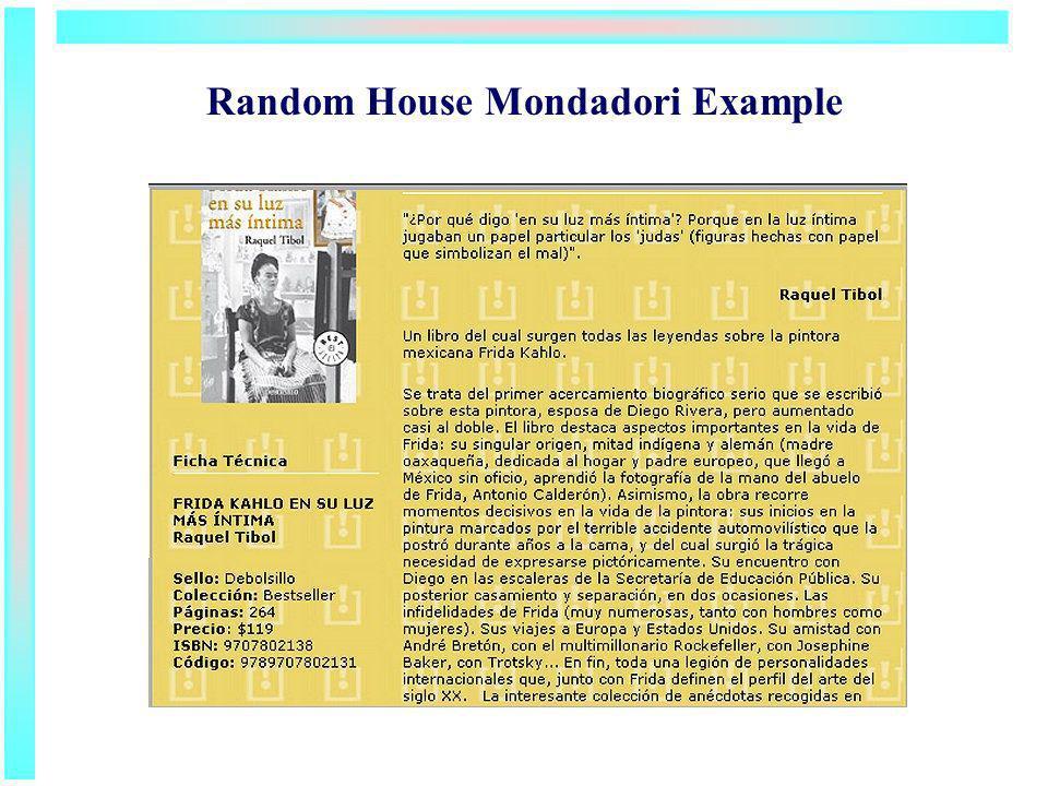 Random House Mondadori Example