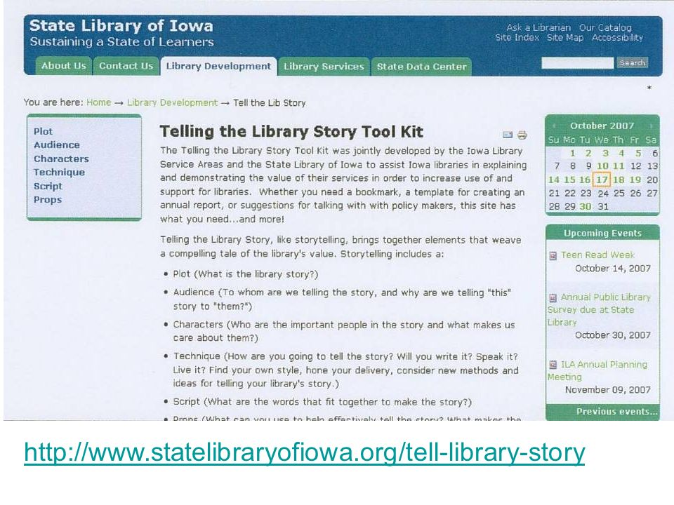 http://www.statelibraryofiowa.org/tell-library-story