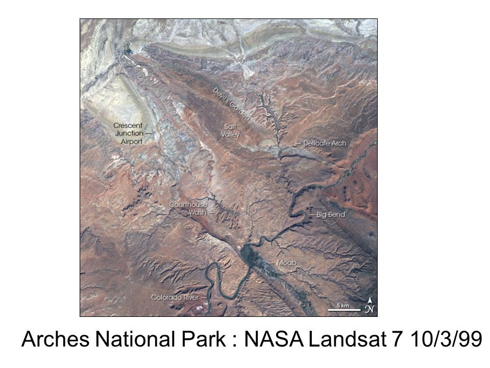 Arches National Park : NASA Landsat 7 10/3/99