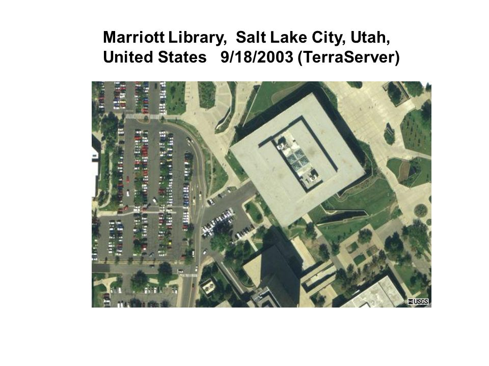 Marriott Library, Salt Lake City, Utah, United States 9/18/2003 (TerraServer)