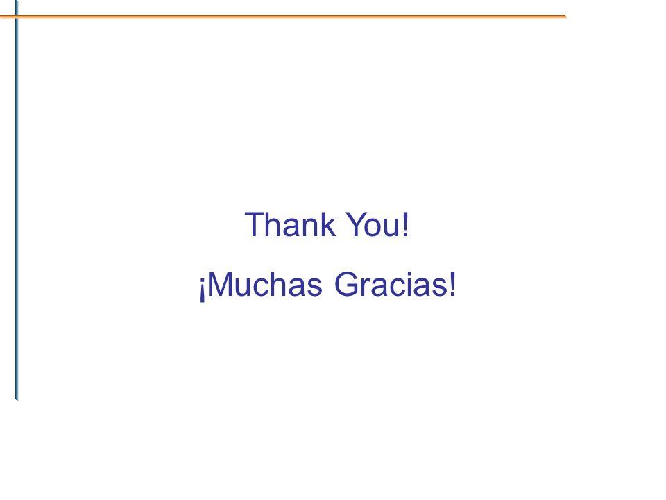 Thank You! ¡Muchas Gracias!