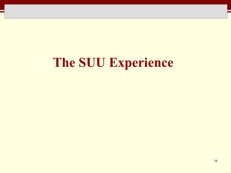 14 The SUU Experience